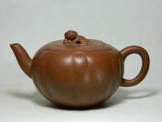 紫砂壺 清末 獅球壺