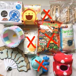 Hamster Stuffs for Sale! BUY MORE GOT DISCOUNT (Depends on item) CHECK OUT THE INDIVIDUAL LISTINGS!