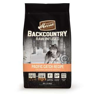 Merrick Backcountry Raw Infused Pacific Catch Recipe Dog Food 22lb $159 / $300 for 2