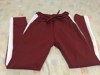 One side stripe track pants