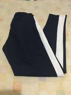 One side stripe track pants