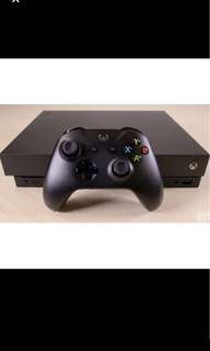 Xbox One X New with free one month gold pass