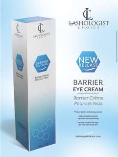Barrier eye cream for lash and brow tint