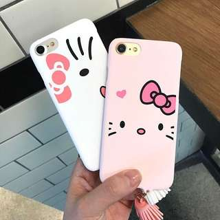 🌼C-1020 Hello Kitty Frosted Case for iPhone🌼