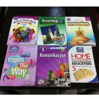 Grades 5, 6, 7, 9 textbooks