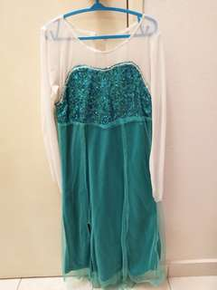 Frozen dress/Turquoise Dress #Ramadan50
