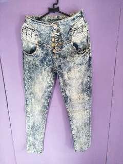 Jeans prada renda