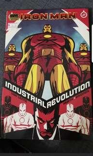 Set of 5 Iron man marvel comic