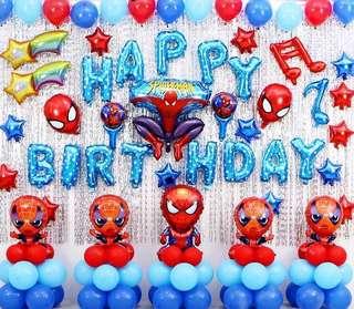 Spider man happy birthday whole set