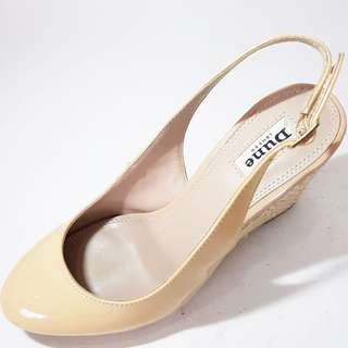 Dune nude wedge