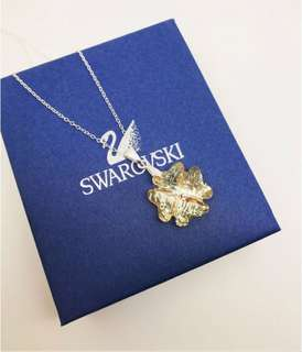 Silver necklace with Champagne Swarovski crystal!✨