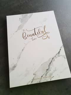 Marble Wedding signature guest book