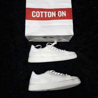 Cotton on white sneakers