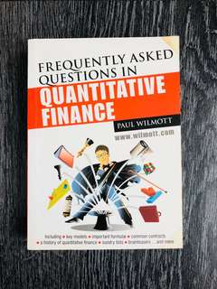 Frequently asked questions in Quantitative Finance, Paul Wilmott