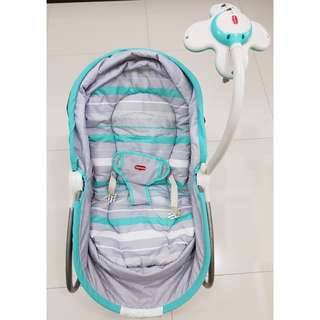 Tiny Love 3-in-1 Rocker Napper Baby Seat in Turquoise/Grey