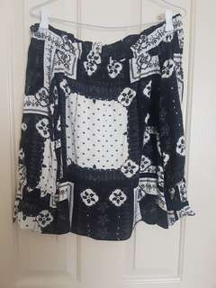 Topshop off the shoulder size 10