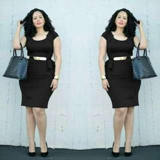 Margarette plus size and freesize dress