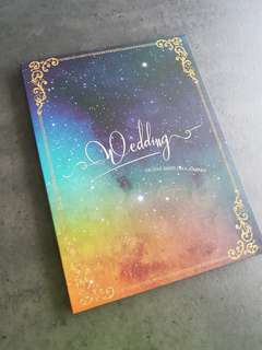 Galaxy wedding signature guest signing book