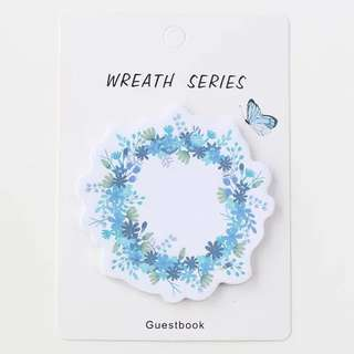 Floral Wreath Post Its