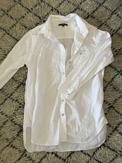 Uniqlo white button up shirt size size L