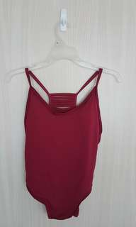 One-piece Swimsuit (Deep Red)