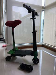 Zar e-scooter - lightest and now with comfortable seat