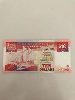 Singapore $10 Note - Ship Series