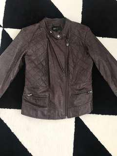 Urban perfectionist brown leather jacket