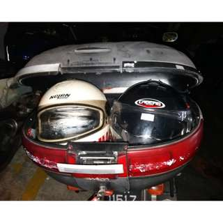 Givi 52 Litres Maxia Rear Box Fit 2 Full Face Helmet with Base Plate $80