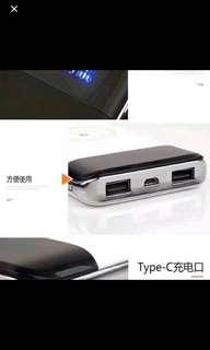行動無線電源充電寶LED 雙位USB 10000mAh  Quick Charge Wireless Charging
