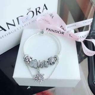 Pandora set Charms with Bracelet