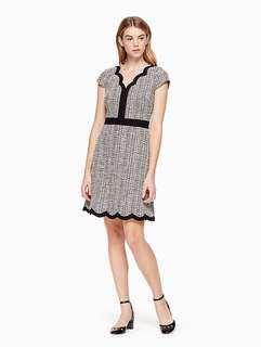 Kate Spade scallop tweed dress 返工裙