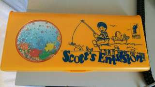 Vintage unused Scotts emulsion pencil case