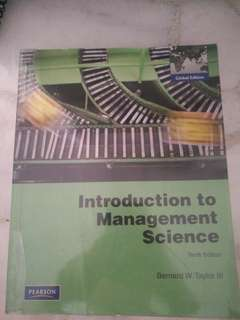 Introduction to Management Science (tenth edition)