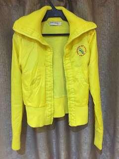 Yellow Rain Bomber Jacket