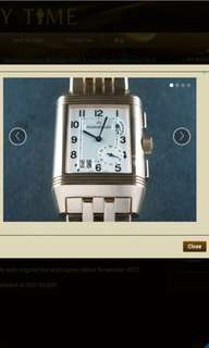 Jaeger Le-Coultre Reverso Grande Big Date GMT 8 Days Power Reserve 18 ct. Rose Gold