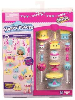Happy Places Shopkins Decorator Pack - Party Time Kitty