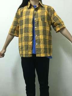🚚 黃色短袖襯衫