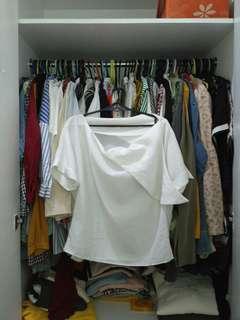 Korean korea cream blouse