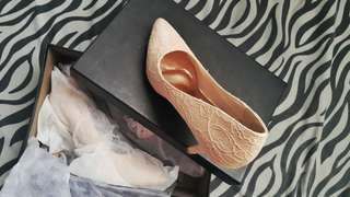 Matthews Beige Lace Shoes