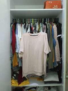 STYLENANDA pale pink shirt tee