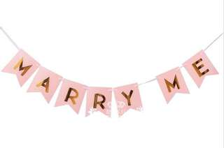 [Rental/sale] Marry me banner pink