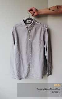 H & M Textured Long Sleeve Shirt