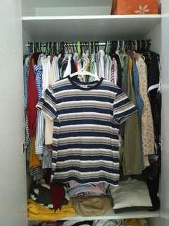 Multicolored stripes shirt tee