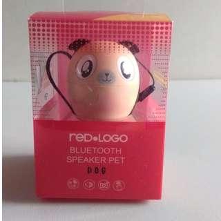 Red Logo Audio Pet Bluetooth Speaker