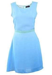 Plains and Prints Blue Ombre Dress