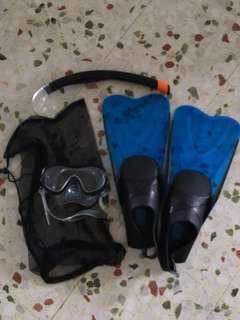 Decathlon snorkeling set