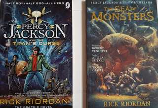 Two Percy Jackson graphic novels