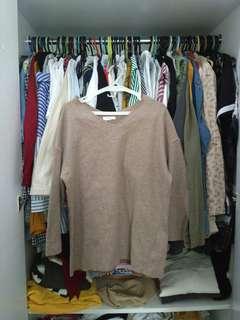 Oversized Light Brown Sweater