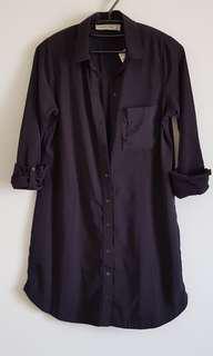 🚚 A&F  黑色襯衫洋裝